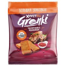 Гренки Хрустец со вкусом телятины с аджикой, 130гр.