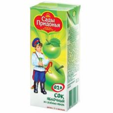 """""""Сады Придонья"""" сок яблочный из зеленых яблок осветленный восстановленный 1 л"""