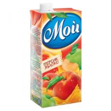 """""""МОЙ"""" нектар персиково-яблочный с мякотью 1,45 л"""