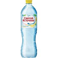 """Питьевая вода """"Святой Источник"""" лимон негаз ПЭТ 1,0 л (в упаковке 12 шт)"""