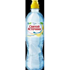 """Питьевая вода """"Святой Источник"""" лимон негаз ПЭТ 0,5 л (в упаковке 12 шт)"""