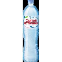 """Питьевая вода """"Святой источник"""" негаз. ПЭТ. 1,5 л. (в упаковке 6 шт)"""