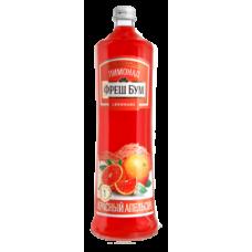 """Напиток безалкогольный сильногазированный """"Лимонад Фреш Бум Красный апельсин"""" стекло 1,0 л (в упаковке 6 шт)"""