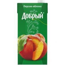 """Сок """"Добрый"""" персик-яблоко 2л (в упаковке 6 шт)"""