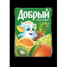 """Сок """"Добрый"""" мультифруктовый 0,2л (в упаковке 27 шт)"""