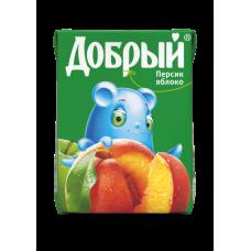 """Сок """"Добрый"""" персик-яблоко 0,2л (в упаковке 27 шт)"""