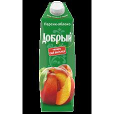 """Сок """"Добрый"""" персик-яблоко 1л (в упаковке 12 шт)"""