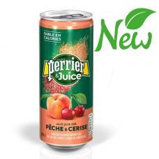 """Напиток """"Perrier"""" с соком Персик и вишня 0,25 л ж/б (в упаковке 24 шт)"""