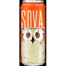 Напиток б/а энергетический СОВА ж/б 0,5 л апельсин (в упаковке 12 шт)
