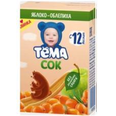 Сок ТЁМА яблоко -облепиха 0,2 л (в упаковке 18 шт)