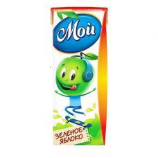 """""""МОЙ"""" сок яблочный из зеленых яблок осветленный 0,2 л"""