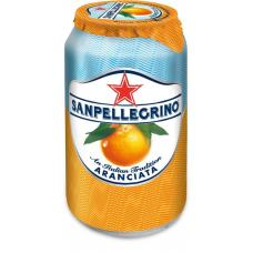 Напиток SanPellegrino Апельсин газ ж/б 0,33 л (в упаковке 24 шт)