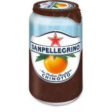 Напиток SanPellegrino померанец газ ж/б 0,33 л (в упаковке 24 шт)